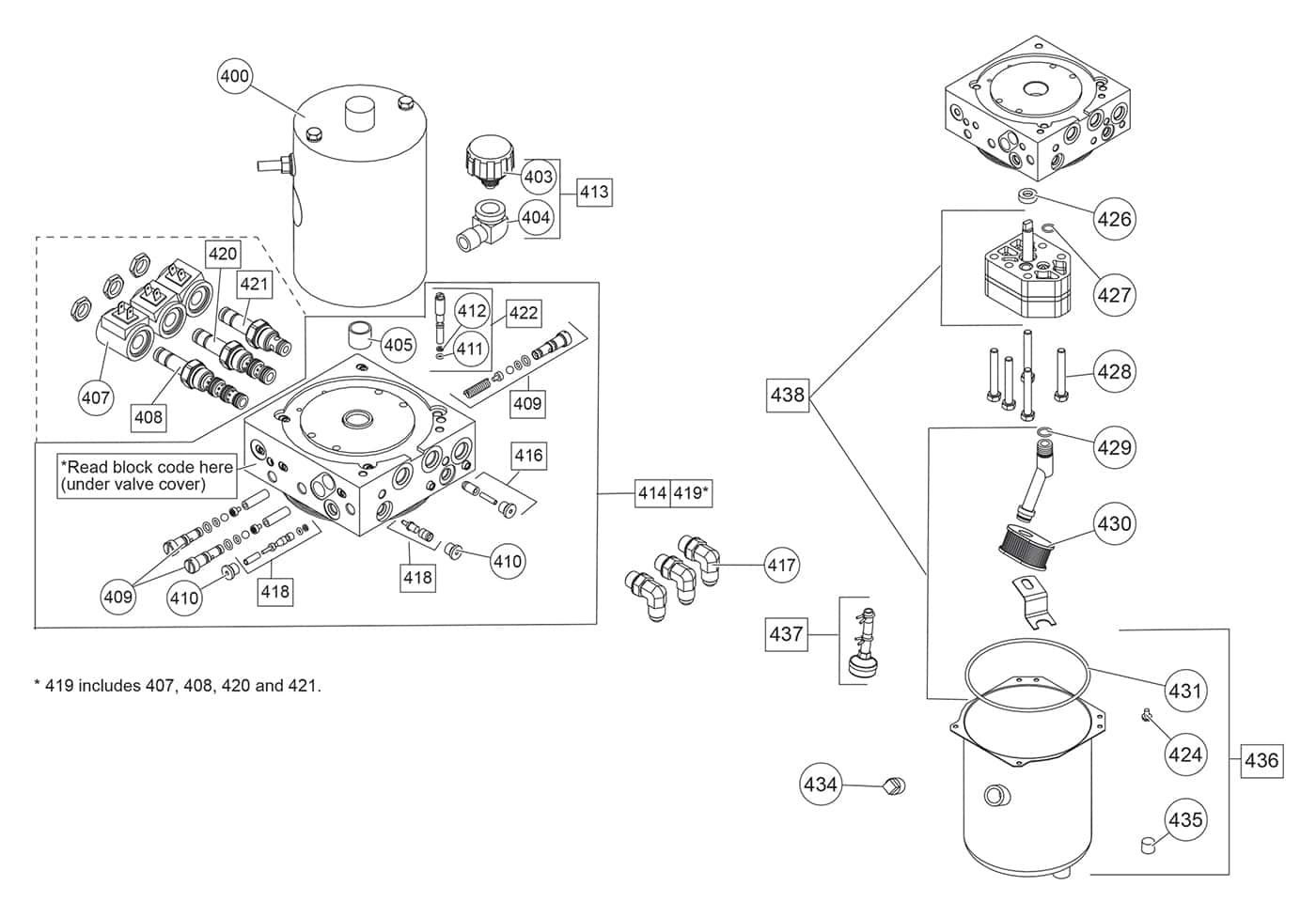 fisher xblade - hydraulics diagram